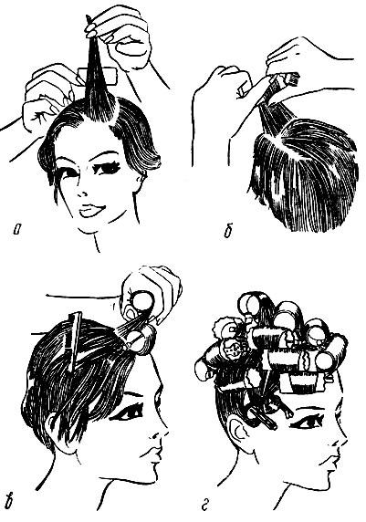 Укладка волос на бигуди фото