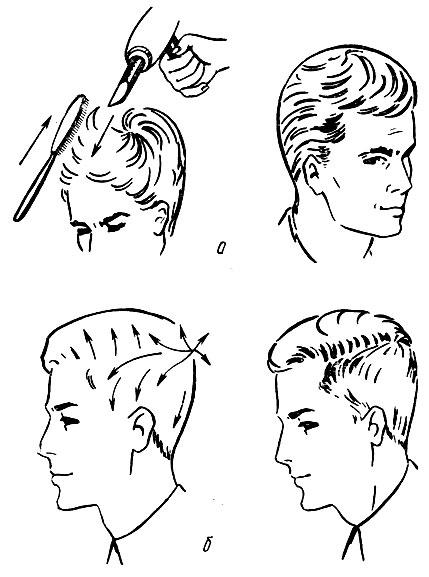 волос при укладке феном и
