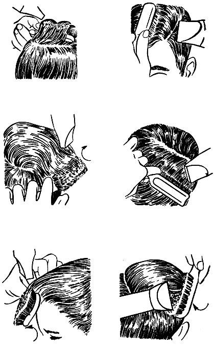 Укладка волос различных