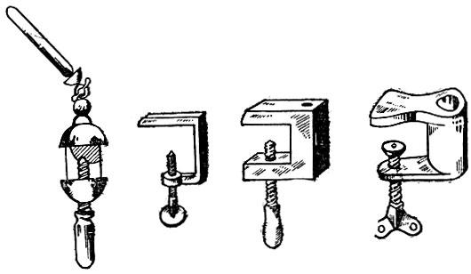 Рис. 58. Струбцинки и держатели
