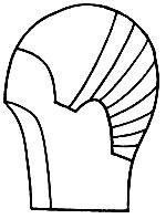 Рис. 70. Линия нашивки тресса