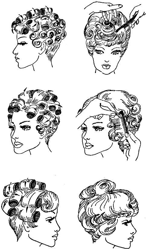 Схемы причесок рисунки
