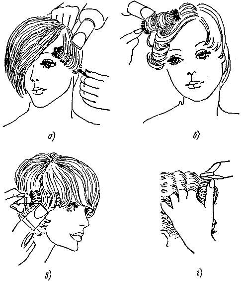 Варианты укладки волос феном и