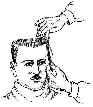 Стрижка волос левой стороны