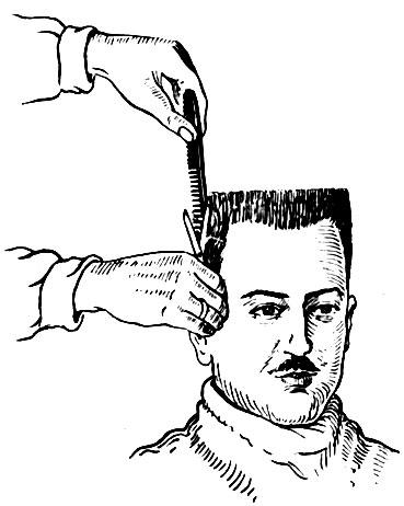 Стрижка волос правой стороны